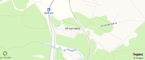 Карта хутора Игнатовки в Белгородской области с улицами и номерами домов
