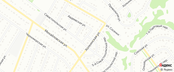 3-й Севастопольский переулок на карте Старого Оскола с номерами домов