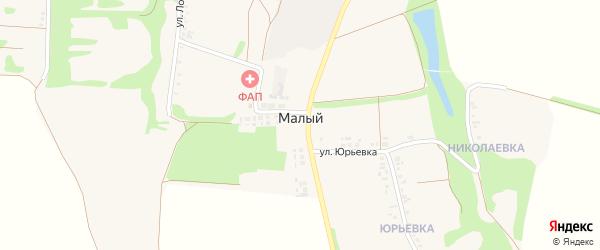 Малый 5-й переулок на карте Белгорода с номерами домов