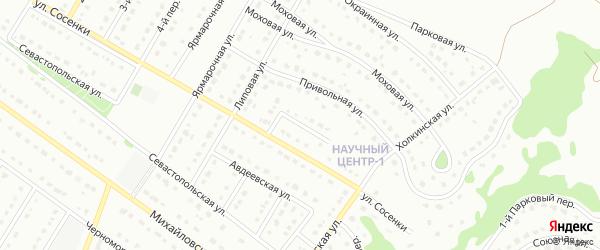 Липовый переулок на карте Старого Оскола с номерами домов