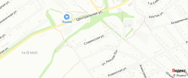 Славянская улица на карте Старого Оскола с номерами домов