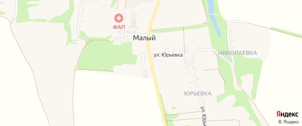 Молодежная улица на карте Малого хутора с номерами домов