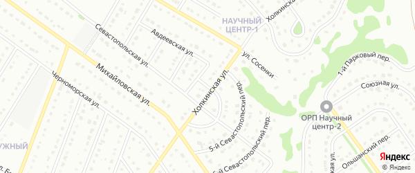4-й Севастопольский переулок на карте Старого Оскола с номерами домов