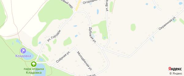 Дубовая улица на карте Новокладового села с номерами домов