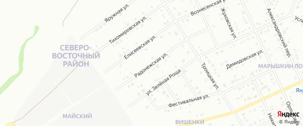 Радонежская улица на карте Старого Оскола с номерами домов