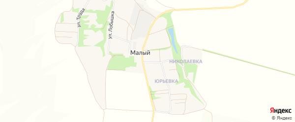 Карта Малого хутора в Белгородской области с улицами и номерами домов