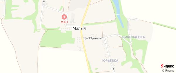 Улица Труда на карте Малого хутора с номерами домов