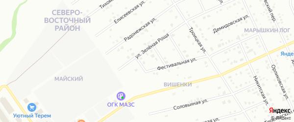 3-й Фестивальный переулок на карте Старого Оскола с номерами домов