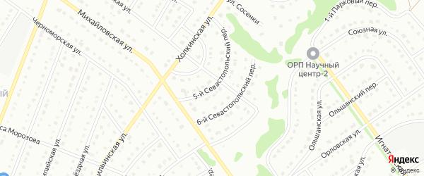 5-й Севастопольский переулок на карте Старого Оскола с номерами домов