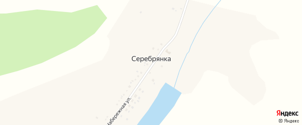 Набережная улица на карте села Серебрянки с номерами домов