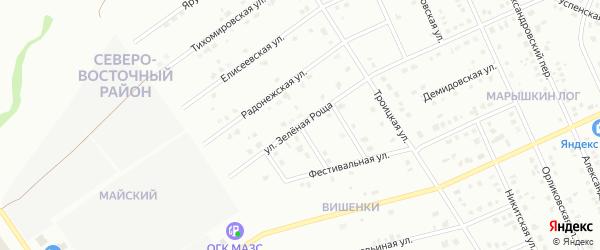 Улица Зеленая Роща на карте Старого Оскола с номерами домов