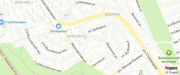Переулок Дубравка на карте Старого Оскола с номерами домов