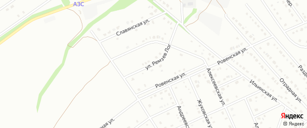 Улица Ремзев Лог на карте Старого Оскола с номерами домов