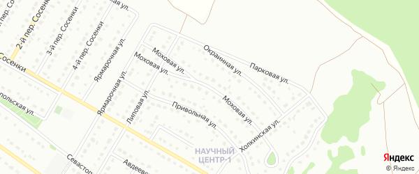 Моховая улица на карте Старого Оскола с номерами домов