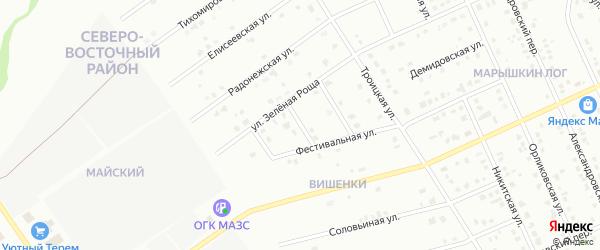 2-й Фестивальный переулок на карте Старого Оскола с номерами домов