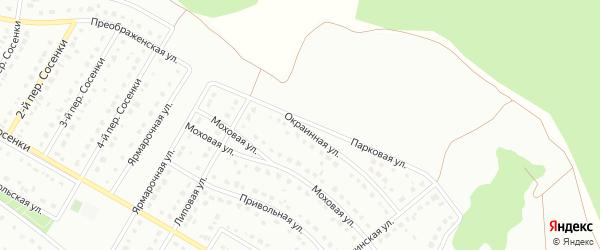 Окраинная улица на карте Старого Оскола с номерами домов