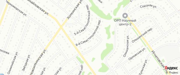 6-й Севастопольский переулок на карте Старого Оскола с номерами домов