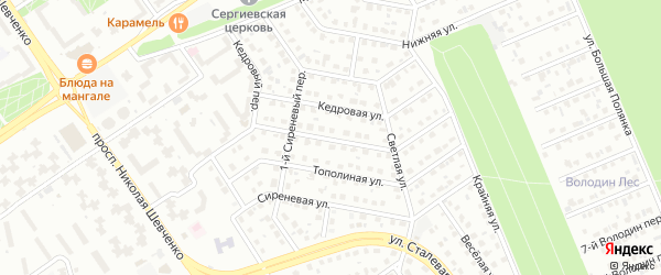 Улица Зеленый бор на карте Старого Оскола с номерами домов