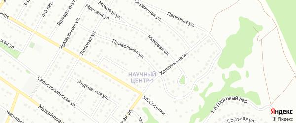 Привольная улица на карте Старого Оскола с номерами домов