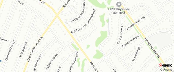 7-й Севастопольский переулок на карте Старого Оскола с номерами домов