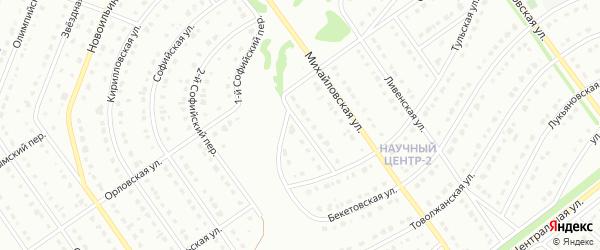 1-й Орловский переулок на карте Старого Оскола с номерами домов