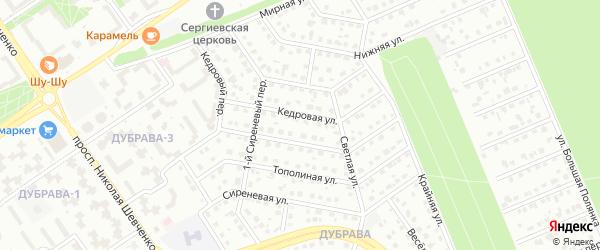 2-й Сиреневый переулок на карте Старого Оскола с номерами домов
