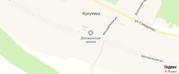 Центральная улица на карте села Кукуевки с номерами домов