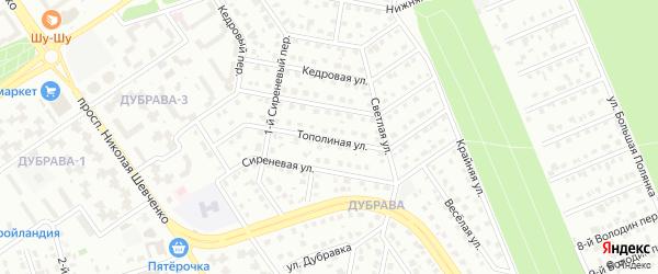 Тополиная улица на карте Старого Оскола с номерами домов