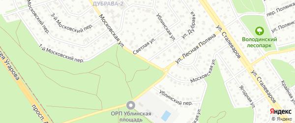 Московская улица на карте Старого Оскола с номерами домов