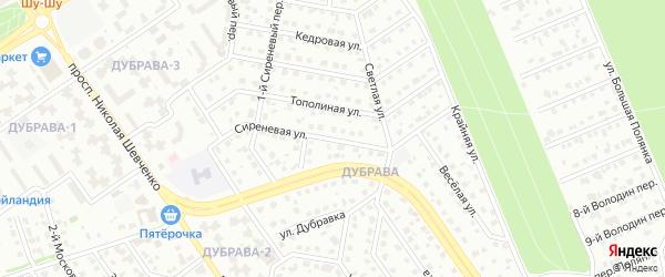 Сиреневая улица на карте Старого Оскола с номерами домов