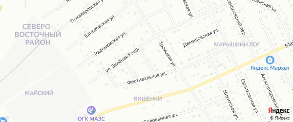 1-й Фестивальный переулок на карте Старого Оскола с номерами домов