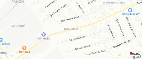 Вешняя улица на карте Старого Оскола с номерами домов