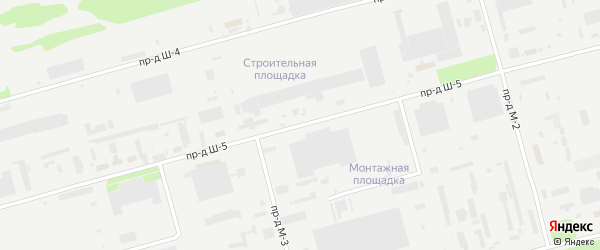 Площадка Монтажная проезд Ш-5 на карте станции Котла промузла с номерами домов