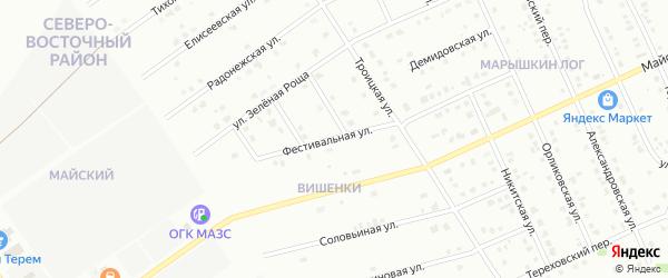 Фестивальная улица на карте Старого Оскола с номерами домов