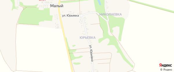 Улица Юрьевка на карте Малого хутора с номерами домов