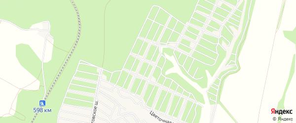 Залесье-Кладовое СТ на карте Старооскольского района с номерами домов