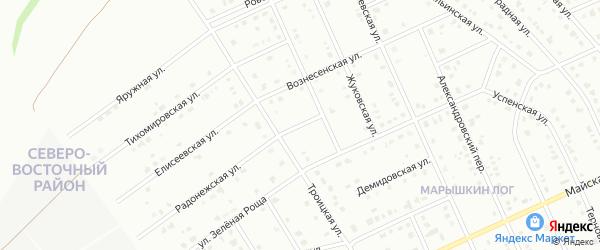 2-й Троицкий переулок на карте Старого Оскола с номерами домов