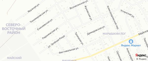 Троицкая улица на карте Старого Оскола с номерами домов