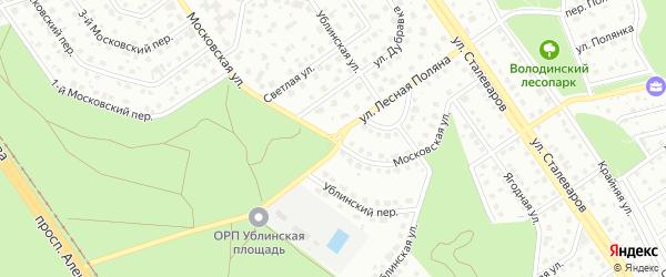 Улица Лесная Поляна на карте Старого Оскола с номерами домов