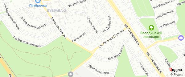 Улица Дубравка на карте Старого Оскола с номерами домов