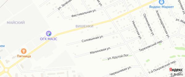 Соловьиная улица на карте Старого Оскола с номерами домов