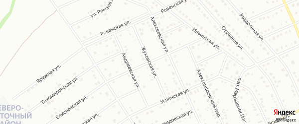 Жуковская улица на карте Старого Оскола с номерами домов
