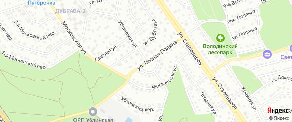 Ублинская улица на карте Старого Оскола с номерами домов