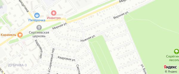 Нижняя улица на карте Старого Оскола с номерами домов