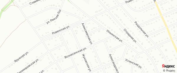 Алексеевская улица на карте Старого Оскола с номерами домов