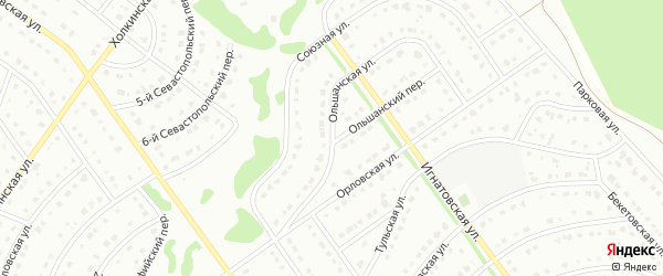 Ольшанская улица на карте Старого Оскола с номерами домов