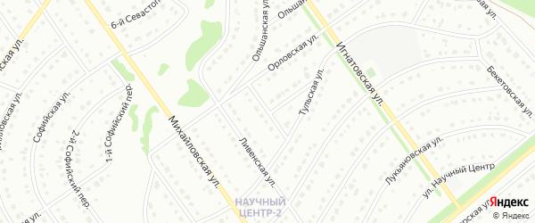 2-й Орловский переулок на карте Старого Оскола с номерами домов