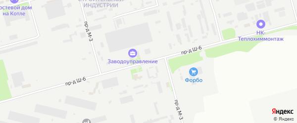 Площадка Монтажная проезд Ш-6 на карте станции Котла промузла с номерами домов