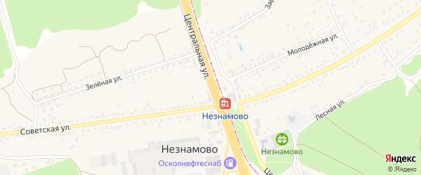 Центральная улица на карте села Незнамово с номерами домов