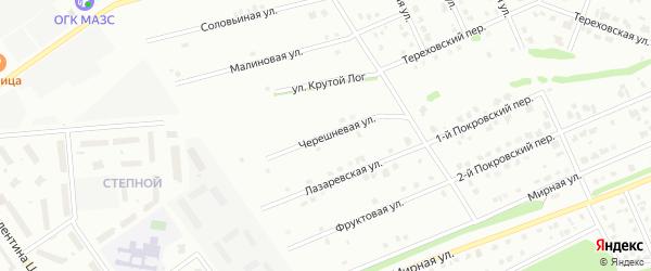 Черешневая улица на карте Старого Оскола с номерами домов